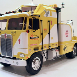 Kenworth K100 wrecker McCrary Trucking