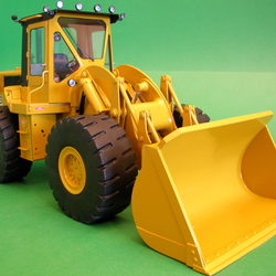 Caterpillar wheeled shovel